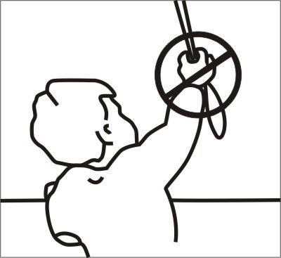 Ikona šnúry uchovávajte mimo dosahu detí